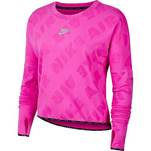 Nike Damen Air Midlayer Crew Sweatshirt, Fire Pink/Reflective Silv, L