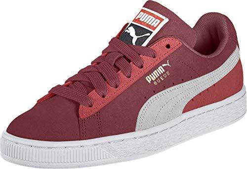 Puma Suede Classic Sneaker Unisex-Erwachsene, Rot (Rhubarb-Puma White-High Risk Red 71), 12 (47 EU) EU