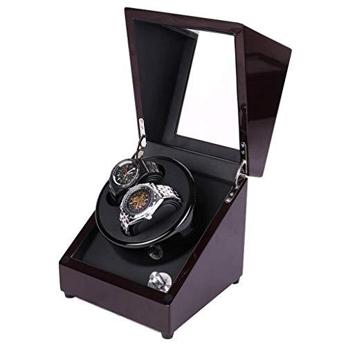 CLJ-LJ Reloj hogar devanaderas cajas de reloj Winder Mini 2 + 0 cuerda automática Rotación ultra silencioso Motor Box Highend mesa de agitación caja de reloj, 18 * 18 * 19.7cm caja de reloj (color, ta