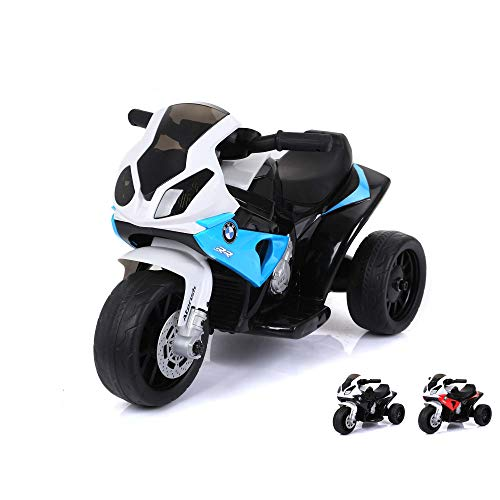 BMW S 1000 RR Deluxe Edition - Kinder Elektromotorrad Ride on original Design Lizenzmodell Superbike mit Sound, 6V Power Akku wiederaufladbar und Motor