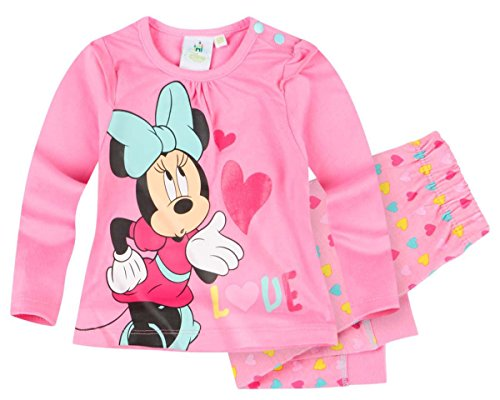 Pantalon et T-shirt manches longues bébé fille Minnie Rose 3 à 24mois (12 mois)