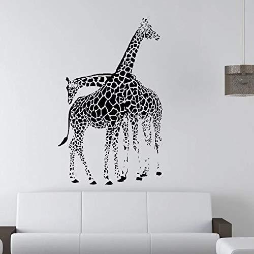 Puede quitar pegatinas de pared decoración del hogar decoración de la pared de la habitación jirafa africana patrón de pared creativo