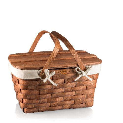 Picnic Time Prairie Picnic Basket with Canvas Lining