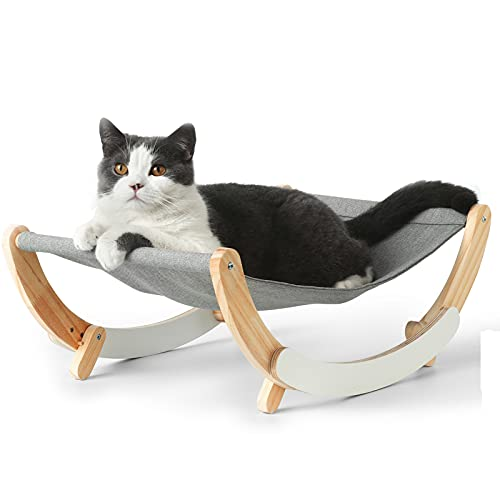 FUKUMARU Cat Hammock - New Moon Cat Swing Chair, Kitty Hammock Bed, Cat Furniture Gift for Your Small to Medium Size Cat or Toy Dog
