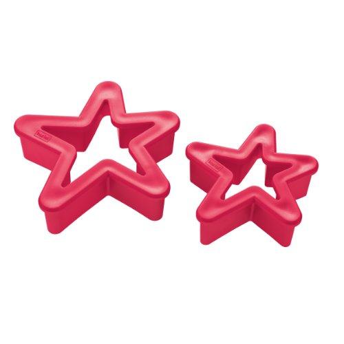 Städter emporte-pièce en forme d'étoiles rouge 3209012 lot de 2
