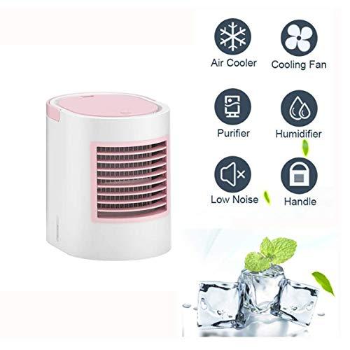 Yangm 3-in-1 mini-airconditioner, draagbaar, koud, LED, luchtkoeler, stil, luchtbevochtiger voor huis, keuken, buiten (178 x 133 x 170 mm)