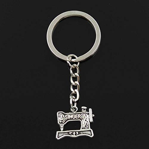 YCEOT sleutelhanger 30Mm sleutelring metalen sleutelhanger sleutelhanger sieraden antieke zilver vergulde draad naaimachine 20X17Mm hanger
