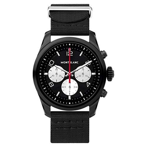 Montblanc Summit 2 Smartwatch 119560 aus schwarzem Stahl, Armband aus schwarzem Nylon