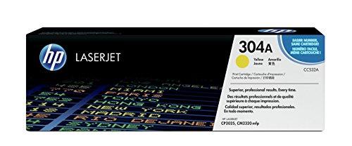 HP 304A (CC532A) Gelb Original Toner für HP Color LaserJet CP2025, CM2320