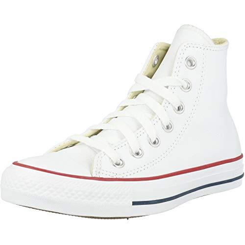 Converse Chuck Taylor all Star Hi Bianca (Optical White) Pelle 35 EU