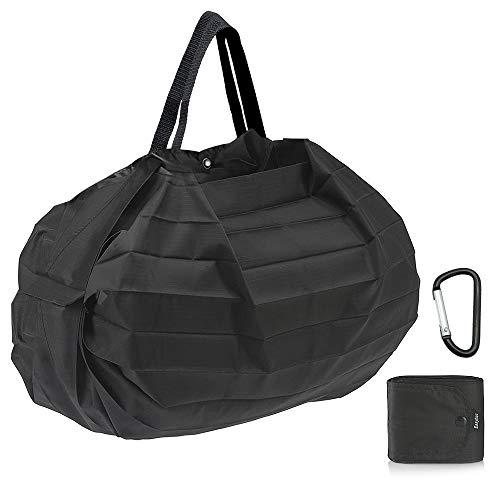 EasyAcc Wiederverwendbare Faltbare Einkaufstasche, Tragbare Einkaufstaschen Waschbare Einkaufsbeutel Große 15 kg Kratzfeste Reißfeste Wasserdichte Nylon Leichte Langlebige Umweltfreundliche