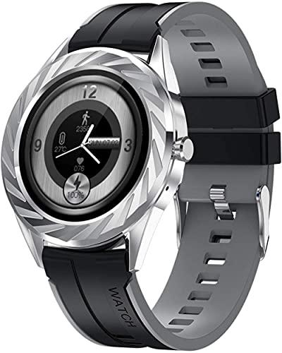 JSL Smart Watch 1.09 Pantalla Táctil Fitness Reloj Rastreador de Actividad Smartwatch con Monitor de Ritmo Cardíaco Monitor de Sueño Fitness Tracker IP67 Resistente al Agua Gris