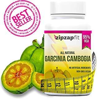 ZipZapFit Pure Garcinia Cambogia Extract - 95% HCA Capsules - Best Weight Loss Supplement - Non GMO - Gluten & Gelatin Free - Natural Appetite Suppressant and Weight Loss Support - 60 Capsules