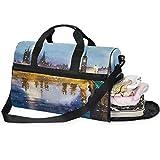 Large Duffle Bag Westminster Abbey Bridge At Dusk Landscape Gym Bag Sport Duffel Bag for Men Women Traveling