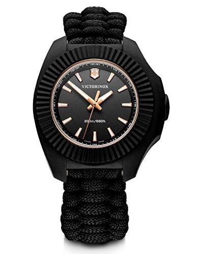 Victorinox Damen Herren I.N.O.X. V - Swiss Made Analog Quarz Edelstahl Uhr 241880