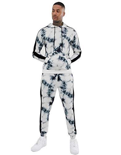 UMore Herren Trainingsanzug Jogginganzug Camouflage Freizeitanzug Kapuzenjacke Sporthose Hoodie Jogging Hose Jacke Sportanzug Military