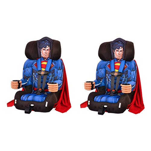 Find Cheap Kids Embrace DC Comics Superman Combination Harness Booster Car Seat (2 Pack)