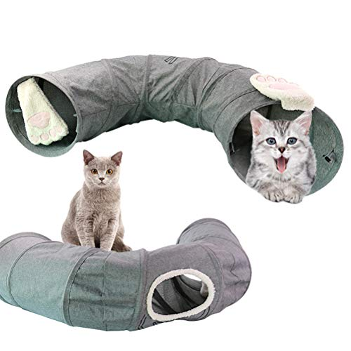 Dowoa Katzentunnel,Faltbar Spieltunnel Rascheltunnel Haustier Größer Tunnel Tube Spieltunnel Katze Katzenspielzeug für Katzen, Welpen, Hasen und Kleintiere