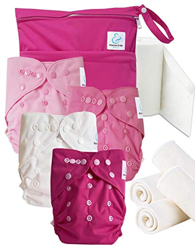 Maman et bb Nature - Start and Go TE2 - Kit 4 couches lavables TE2 - Little Girl