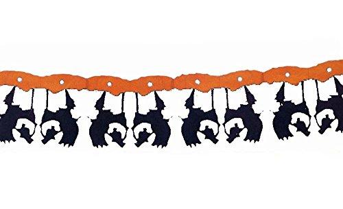 Guirlande de Sorcière sur son balai ignifugée 366 cm Halloween decoration