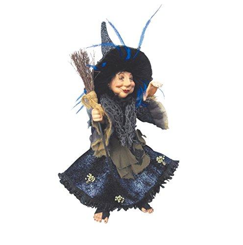 Hexen von Pendle-Rosmarin Küche Hexe zum Aufhängen oder sitzen (blau) 35cm