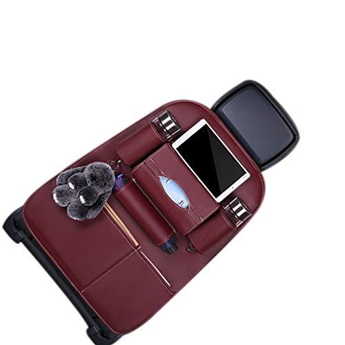 Fornateu Auto Zurück Organizer Fahrzeug Stuhl zurück Leder Lagerung Telefon-Tablette Trinkflasche Halter-Speicher-Taschen-Beutel