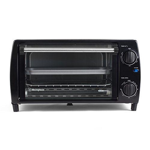 Westinghouse Select Series WTO1010B 4 Slice Countertop Toaster Oven, Black