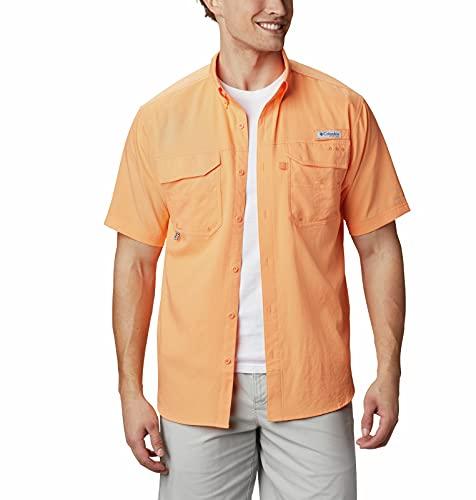 Columbia PFG Blood and Guts III - Camisa de Manga Corta para Hombre, Resistente a Las Manchas y al Agua