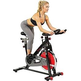 Sunny Health & Fitness 49 Lb Chromed Flywheel, Silent Be...
