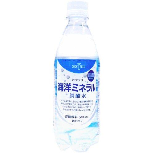 木村飲料 カクテス 海洋ミネラル炭酸水 500ml PET×24本