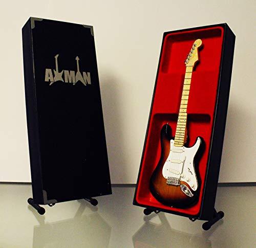 Miniature Guitar replica: Gary Moore–Stratocaster vintage '57–modello Mini Rock memorabilia replica in miniatura in legno Guitar & Free espositore (venditore UK)