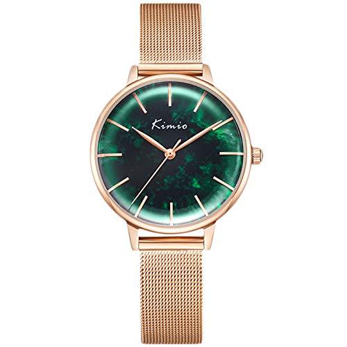 RORIOS Mujer Relojes Impermeable Cuarzo Reloj con Correa en Acero Inoxidable Relojes de Pulsera Moda Vestir Reloj para Mujeres Chica