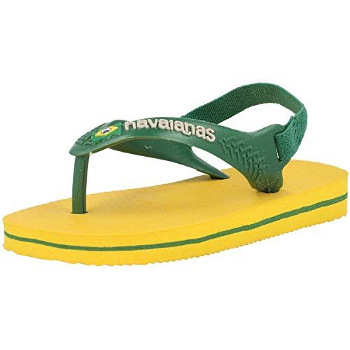 Havaianas Baby Brasil Logo Ii, Sandales Mixte bébé Jaune (Banana Yellow)21 EU