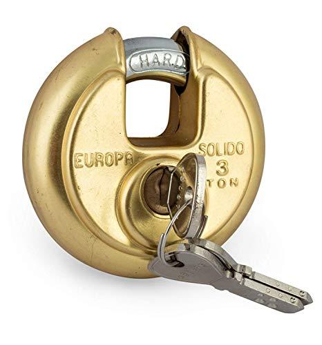 Europa Brass Disc Padlock (Metallic)