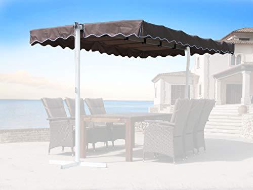 QUICK STAR Auvent de remplacement pour toit Dubai Gris beige