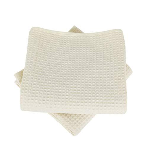 LiNANDELLE – Juego de 2 toallas de algodón de 57 hilos de nido de abeja Week End