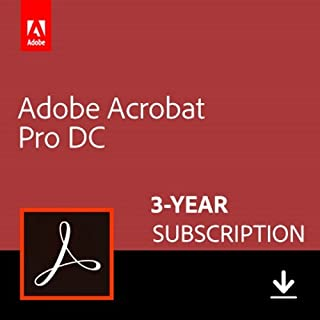Adobe Acrobat Pro DC 3-YEAR Subscription [PC/Mac Online Code]