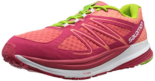 SALOMON Damen Sense Pulse W, Papaya-b/Lotus Pink/Granny Green, 40 EU