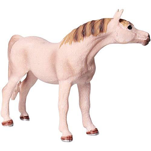 Skysep Figuras Caballo Árabe Estatua Modelo Animal Figura Jardín al Aire Libre Decoración del Hogar Escultura Colección Adornos Niños Grande 13 X 4 X 9.5CM Juguetes