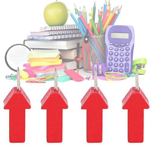 Más duradero, 25 piezas con forma de flecha roja, chinchetas, material de madera para uñas, para oficina, para mensajes familiares(Red arrow pushpin locket)
