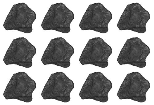 12PK Raw Anthracite Coal, Metamorphic Rock Specimens - Approx. 1' - Geologist Selected & Hand Processed - Great for Science Classrooms - Class Pack - Eisco Labs