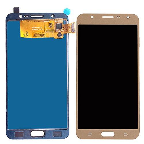 iXuan para Samsung Galaxy J7 2016 J710 J710F J710M J710H J710FN Pantalla Táctil LCD (sin Marco)(Dorado)
