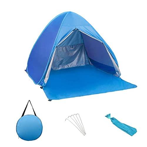 Pop Up Tienda de la Playa Abierto rápido portátil instantánea Pabellón Impermeable refugios de Sol con la Cortina para la Pesca Que acampa Azul XL