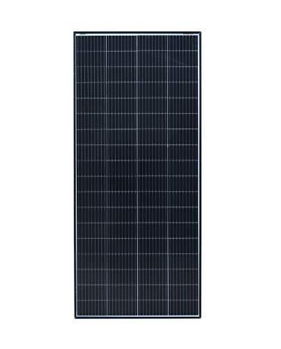 enjoy solar® Monokristallines Solarmodul Solarpanel mit PERC Zellentechnik schwarzes Rahmen Version (200W)