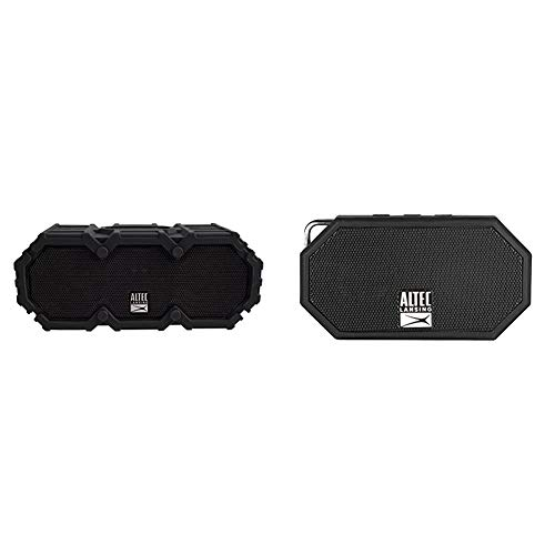 Altec Lansing IMW577-BLK Lifejacket 2 Bluetooth Speaker, IP67 Waterproof, Black & IMW257-BLK Mini H2O Wireless Bluetooth Waterproof Speaker, Black, 2.00 x 4.50 x 5.00 inches