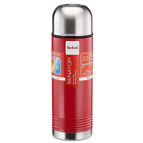 Tefal Senator Isolierkanne Edelstahl Rot Emaille 0.7 Liter