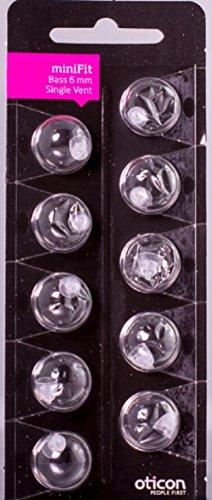 Oticon Minifit Bass 6mm Single Vent Dome Piece (10 Pack)