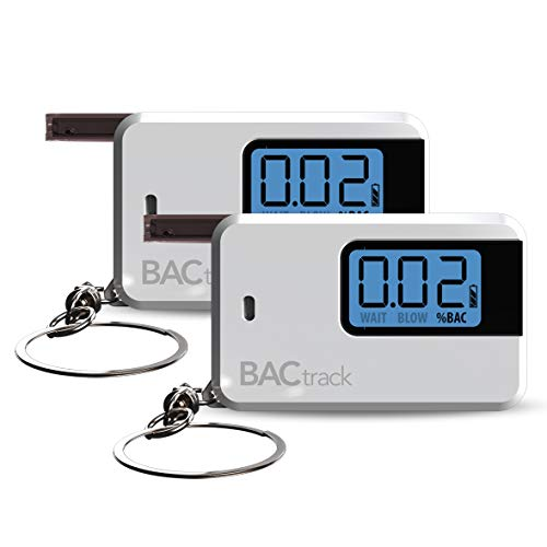 BACtrack Go Keychain Breathalyzer - White (2 Pack)   Ultra-Portable Breathalyzer Keychain for Personal Use