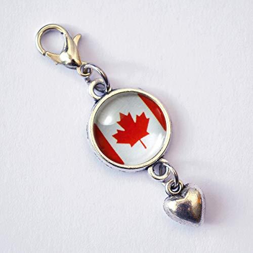 Minianhänger Kanadische Flagge Kanada mit Herz oder Sternchen