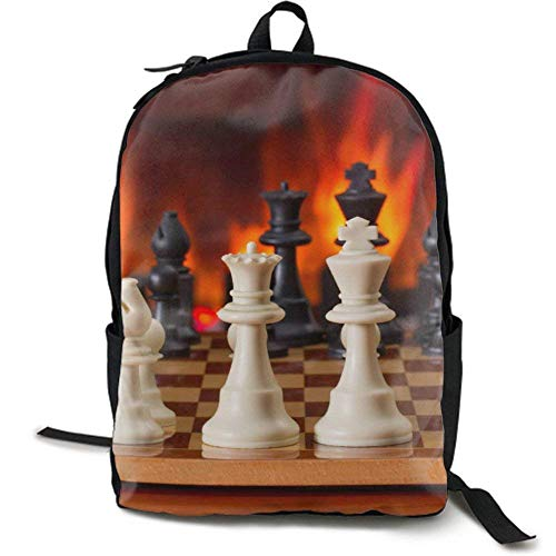 XCNGG NiYoung Backpacks Urning Fire Chess School Bag Travel Daypack Shoulder Bag